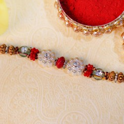 Flower Patterned Designer Rakhi