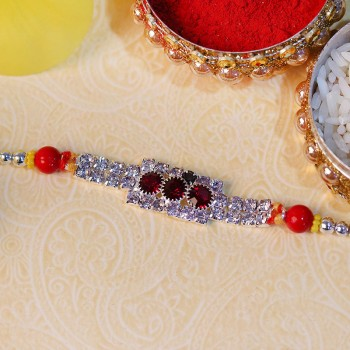 Sterling Diamond and Gemstone Rakhi