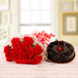 Carnation Hug n Truffle Fun