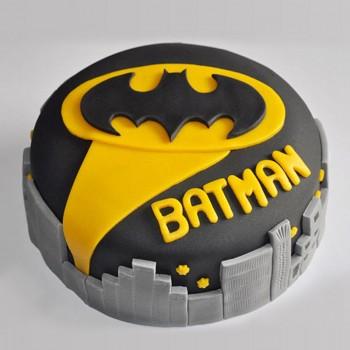 1 Kg Batman Theme Chocolate Fondant Cake
