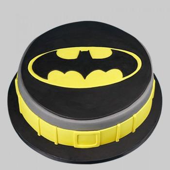 1 Kg Fondant Chocolate Batman Round Cake