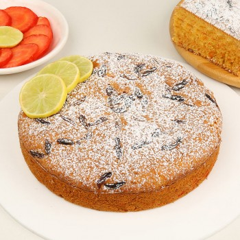 Half Kg Carrot Plum cake Topped with Lemons