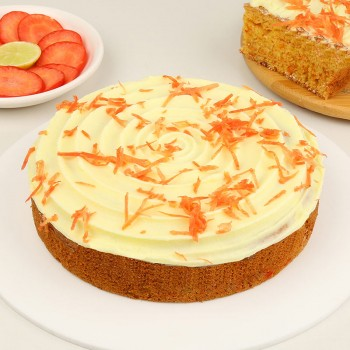 Half Kg Carrot Dry Cake Topped with Cheese