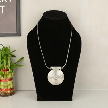 Silver Artificial Neckpiece
