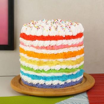 Radiant Rainbow Cake