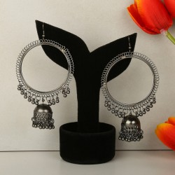 Magnificent Silver Jhumkas