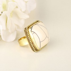 Antique Gold-Toned Statement Ring