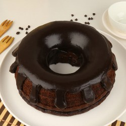 Donut-Shaped Truffle Cake