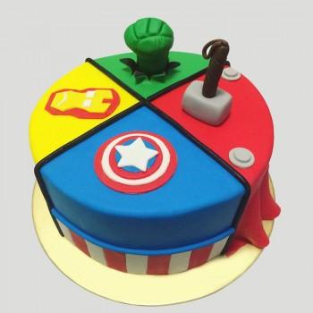 1 Kg Chocolate Fondant Avenger Designer Cake
