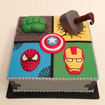 1.5 kg Chocolate Fondant Avenger Designer Cake