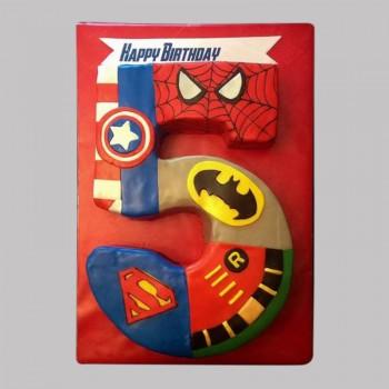 Avengers Number Cake