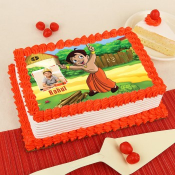 1 Kg Photo Printed Chota Bheem Pineapple Cake