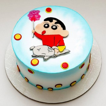 1 Kg Chocolate Fondant Shinchan Designer Cake