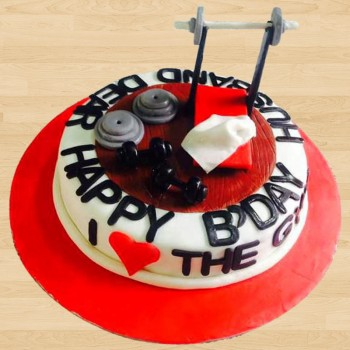 One Kg Fondant Gym Vanilla Cake for Birthday