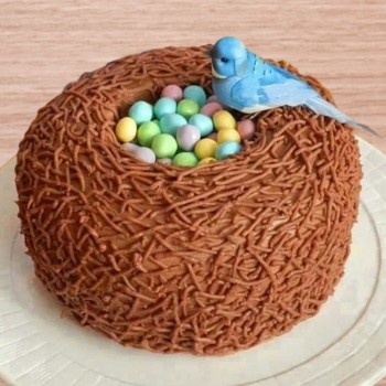 One Kg Birds Theme Designer Chocolate Fondant Cake
