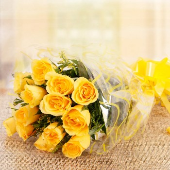 10 Yellow Roses Bunch