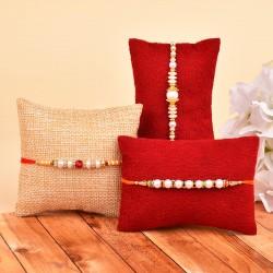 Dazzling Pearl Rakhi Combo