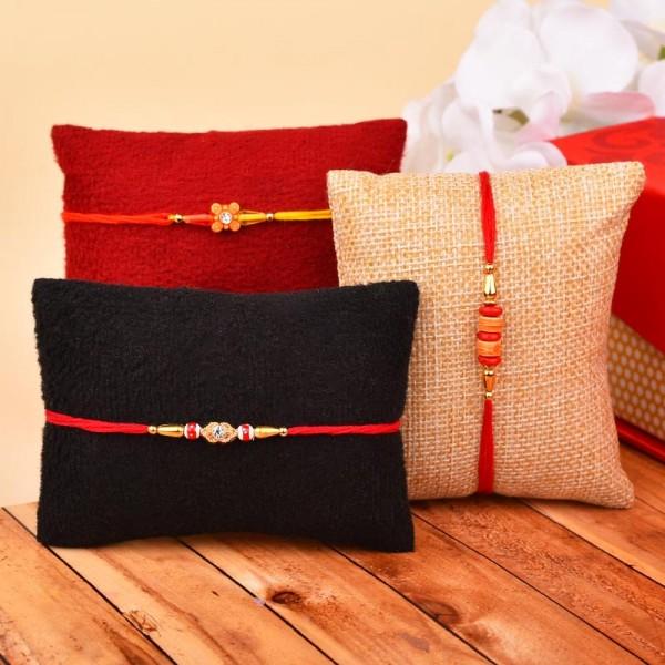Set of 3 Elegant Rakhis