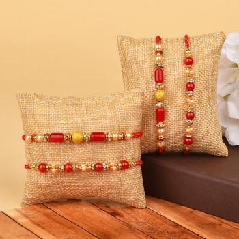 Online Set Of 4 Rakhi Delivery