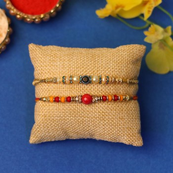 Graceful Set of Two Rakhis