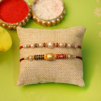 Dazzling Rakhi Set of Two