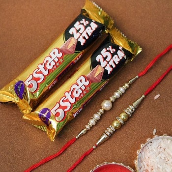 Sterling Rakhi With Chocolates