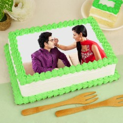 Raksha Bandhan Photo Cake