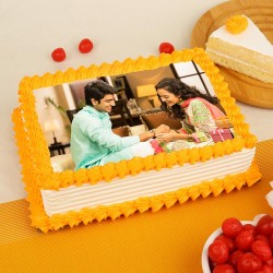 Raksha Bandhan Pineapple Photo Cake