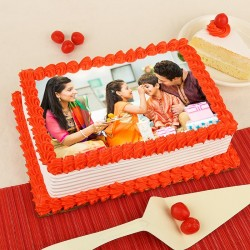 Pineapple Flavored Photo Cake for Rakhi