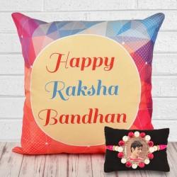 Personalised Rakhi N Cushion