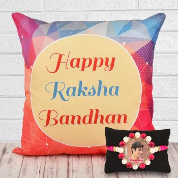 Personalised Rakhi N Cushion
