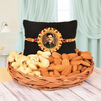Personalised Rakhi N Dry Fruits Basket
