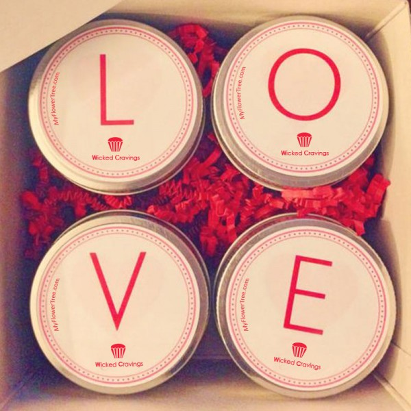 Set of 4 Red Velvet Jar Cakes