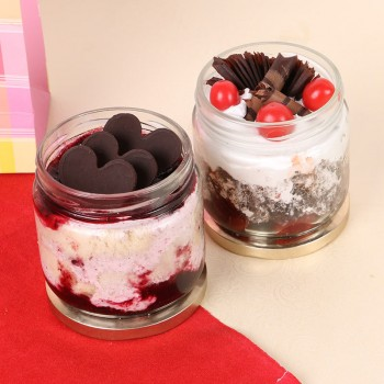 Set of 2 Black Forest and Blueberry Jar Cake