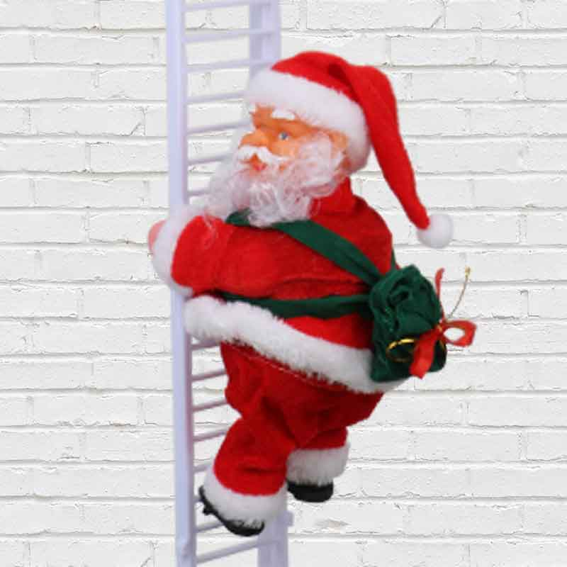 Santa on Ladder
