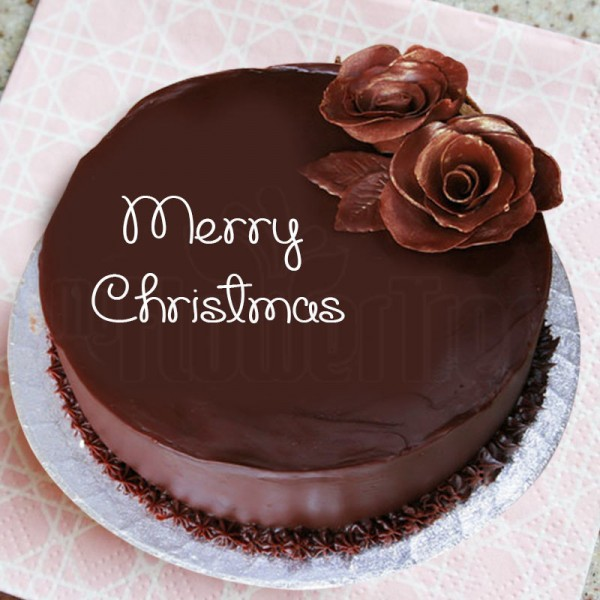 One Kg Chocolate Cream Christmas Cake
