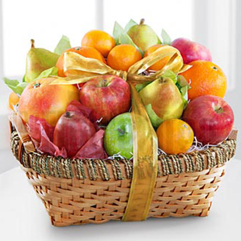 Apple and Oranges Fruit Basket