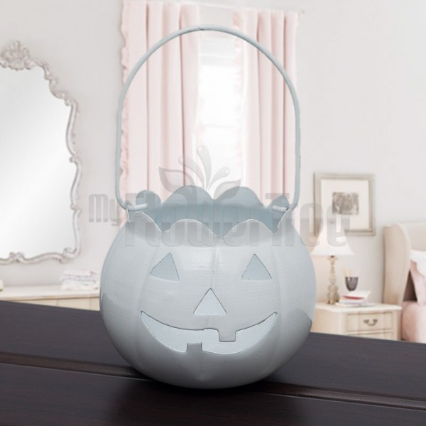 White Halloween Bucket