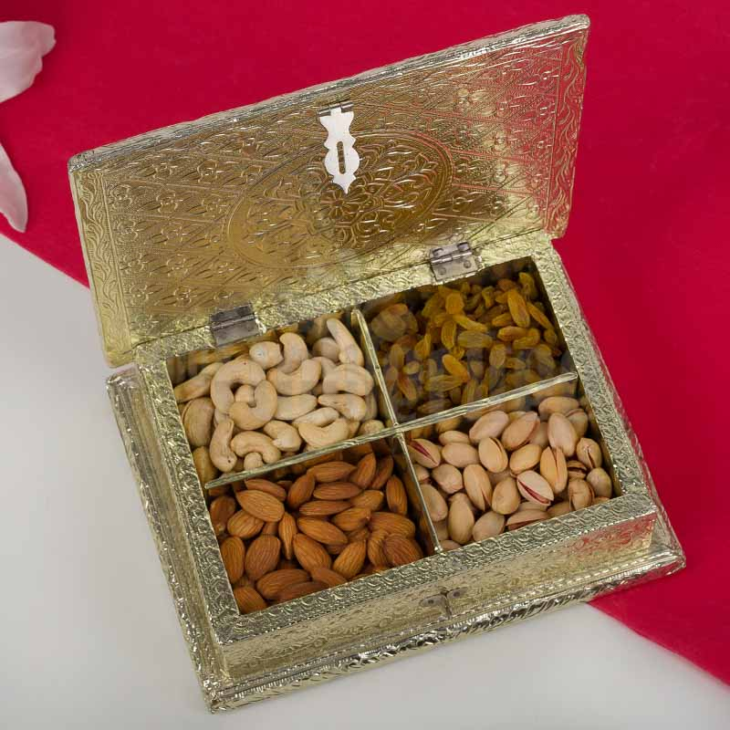 Golden Dry Fruits Box