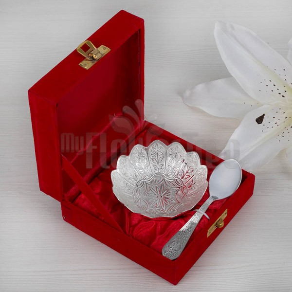 Silver Plated Bowl Spoon Set