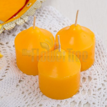 Orange Color Scented Candle