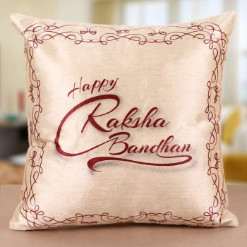 Raksha Bandhan Cushion for Brother and Sister