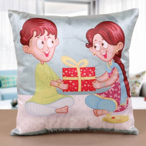 Printed Cushion for Brother Sister
