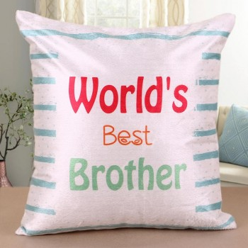 Best Brother Printed Cushion