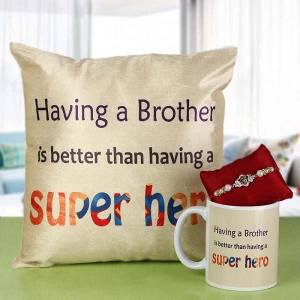 Super Hero Bro Rakhi Combo