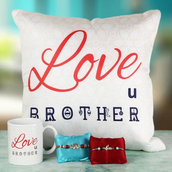 Love for Brother Rakhi Combo