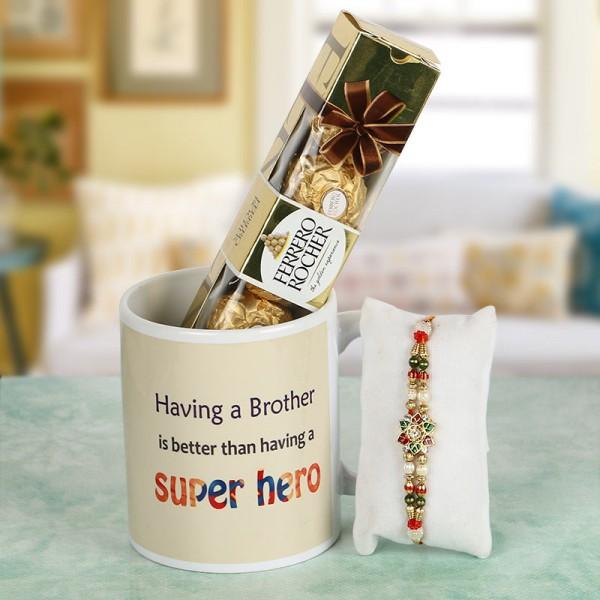 Super Hero Bro Mug with Ferrero Rocher