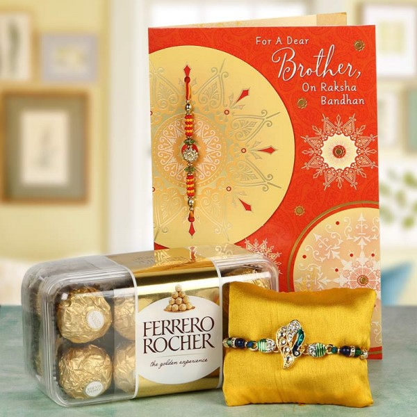 Peacock Rakhi Hamper