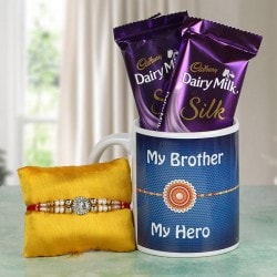 Cadbury Silk and Rakhi Hamper