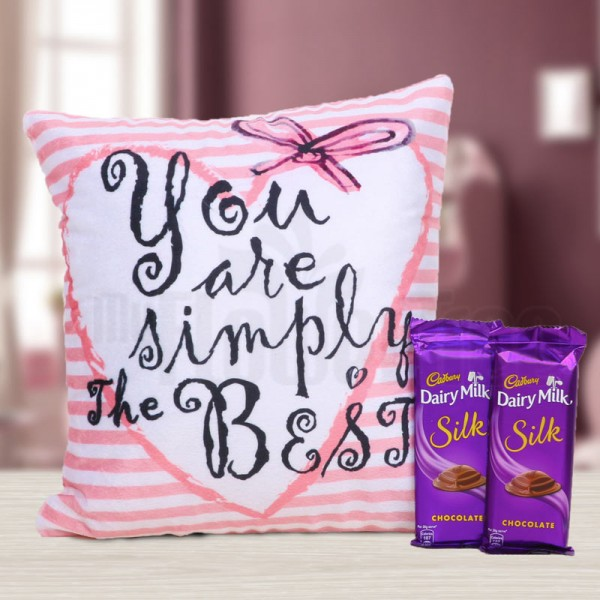 You are The Simply Best Printed Cushion for Dairy Milk Silk Chocolate